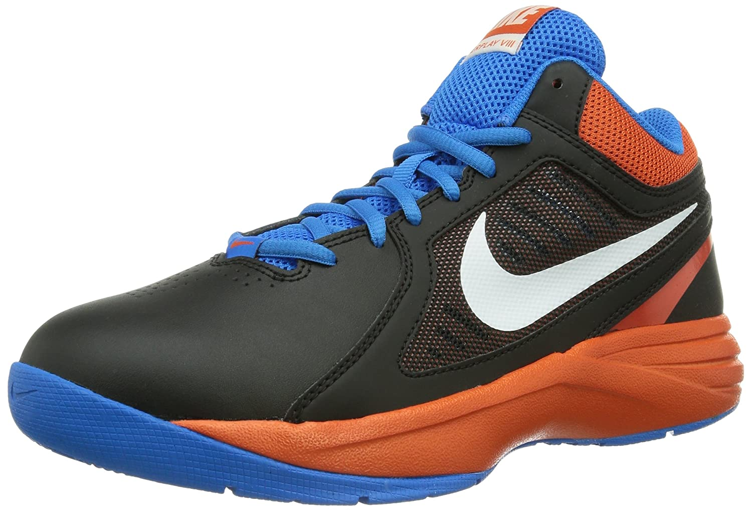 Nike The Overplay VIII - Zapatillas unisex 42 EU|Blanco (Black/White-team Orange-photo Blue)
