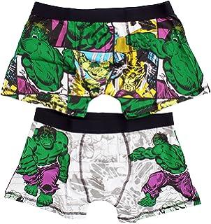 e53f67469e Mens Pack of 2 Marvel Comics Hulk Boxer Trunk Fit Hipster Briefs Sizes S M  L XL