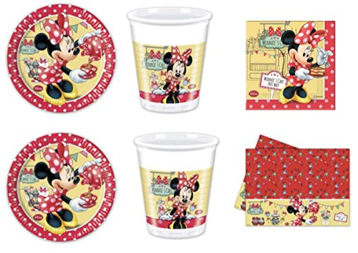 Minnie Caffe Día Kit N ° 7 cdc- (16 platos, 16 vasos, 20 ...