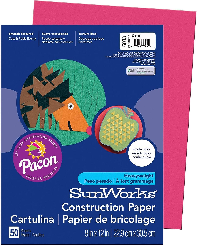 SunWorks Construction Paper Orange 9X12 100 Sheets
