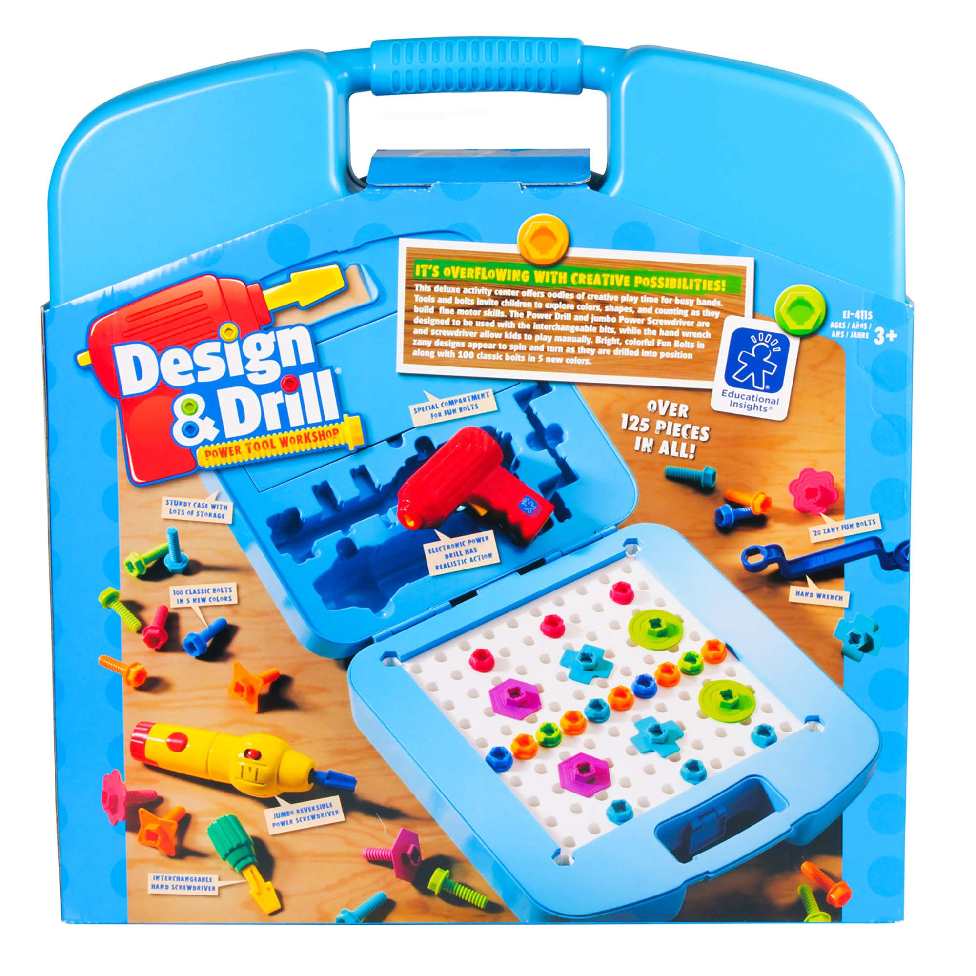 Educational Insights Design & Drill Power Tool Workshop - Drill Toy, STEM & Construction, Building Toy by Educational Insights (Image #7)