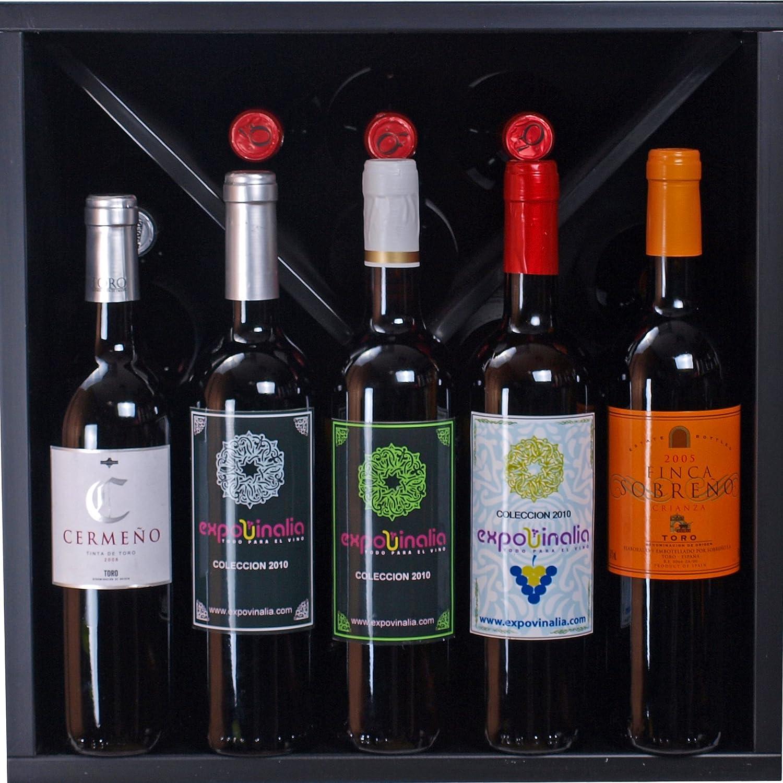 Expovinalia Botellero con X Interior para 16 Botellas, Melamina ...