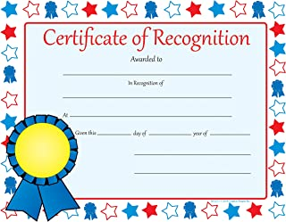 """product image for Creative Shapes Etc. 11"""" x 8.5"""" 30-Pack Recognition Certificate for Graduations, Achievement Days and Ceremonies"""
