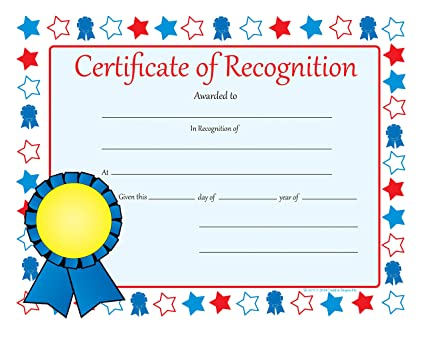 Amazon Certificate Of Recognition Recognition Certificates