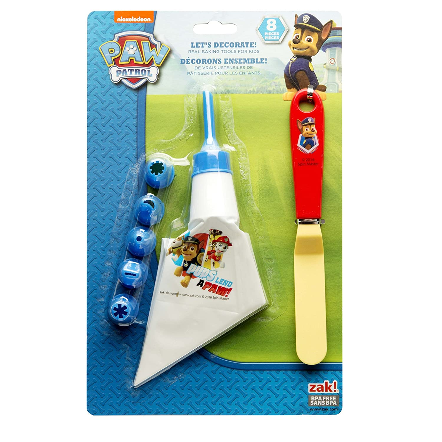 Zak Designs Lets Decorate! Frosting Bag and 6 Tips for Cooking with Kids, Paw Patrol Nickelodeon PWPE-S090