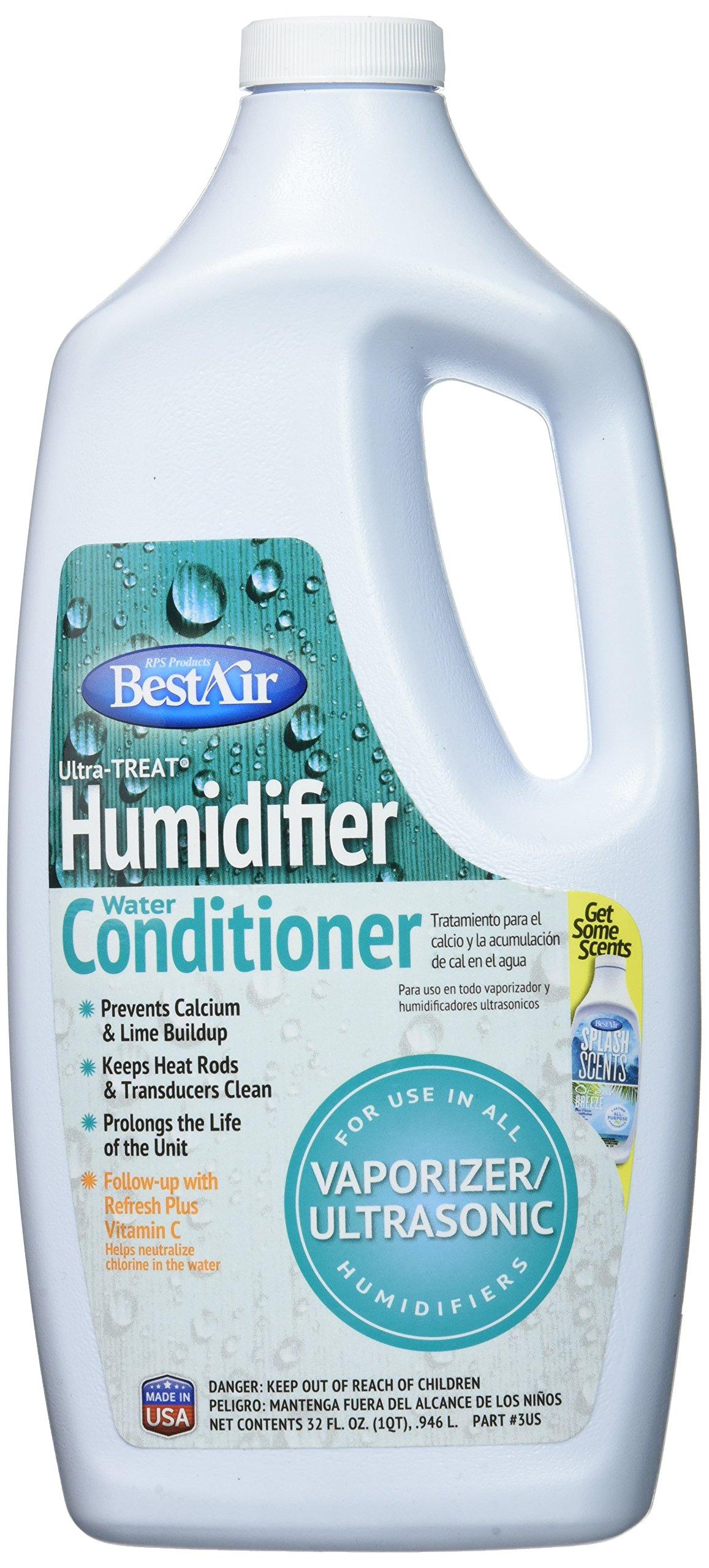 BestAir 3US Ultra-TREAT Ultrasonic/Vaporizer Water Treatment, 32 Ounce