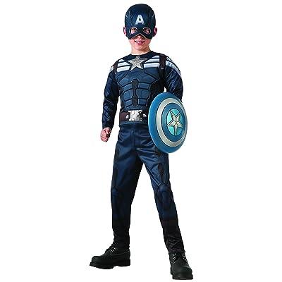 Captain America Reversible Stealth/Captain America Kids Costume: Toys & Games