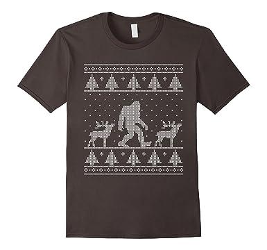 Amazon.com: Bigfoot Ugly Christmas Sweater T-Shirt, Funny ...