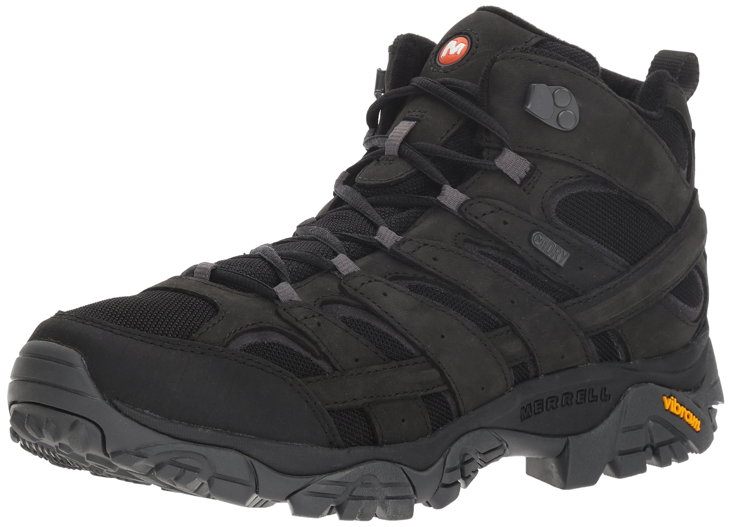 Merrell Men's Moab 2 Smooth MID Waterproof Hiking Boot, Black, 7.5 M US