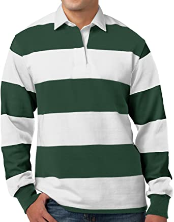 Amazon.com: Buy Cool Shirts Mens Long Sleeve Rugby Polo Shirt ...