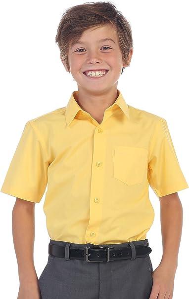 Gioberti Boy/'s Short Sleeve Solid Dress Shirt DS-85S