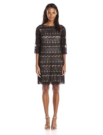 Jessica howard long-sleeve lace shift dress