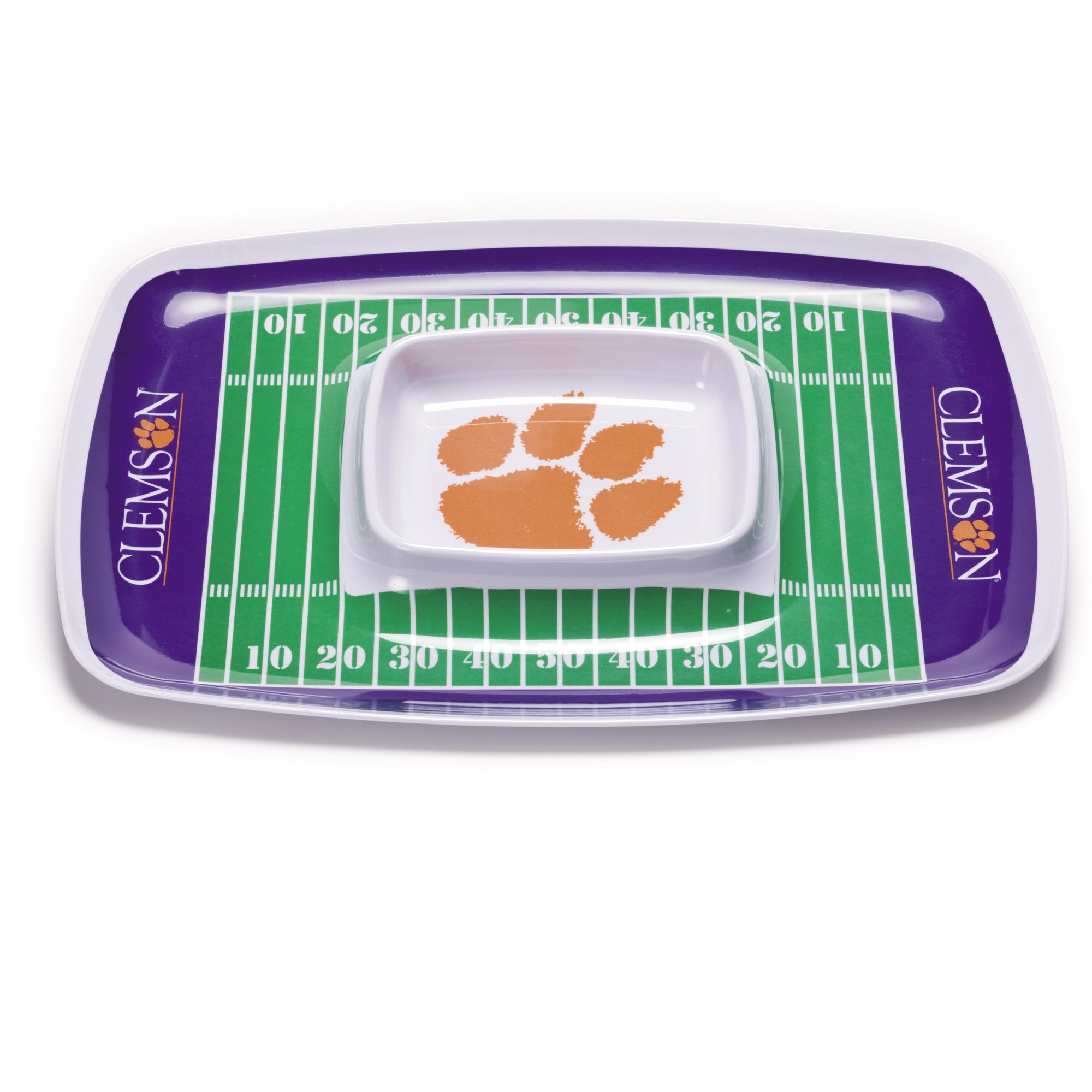 NCAA Clemson Tigers Melamine Chip and Dip Tray