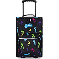 FORTNITE unisex child Multicolor Carry On Luggage, Black/Bright, One Size US