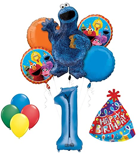 Image Unavailable Not Available For Color Cookie Monster Sesame Street 1st Birthday Party Supplies