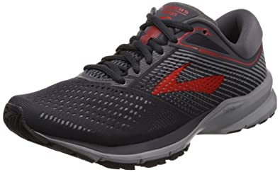 53642c4c147 Brooks Men s Launch 5 Ebony Grey Red 9.5 ...