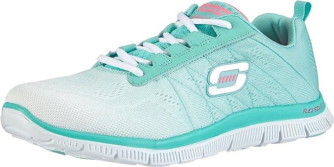 Skechers Flex Appeal, Zapatillas de Deporte Exterior para Mujer, Blanco (WMT), 35 EU: Amazon.es: Zapatos y complementos