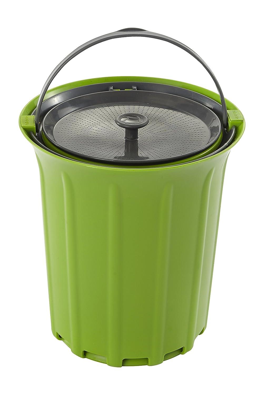 Full Circle Breeze Odor-Free Countertop Compost Bin, Green Slate