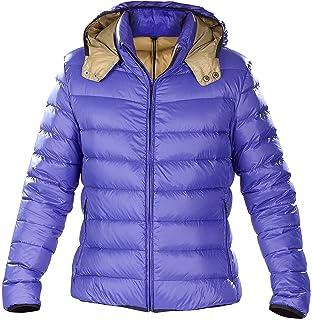 En L Col Montant Bleu Avec Et Taille Capuche Ultralégère Doudoune Duvet HAvqnIa5q