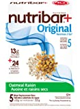 Nutribar Original Nutribar+ Original Meal Replacement Bars, Oatmeal Raisin, 5 Bars 5 count