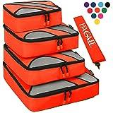 4セットパッキングキューブ 洗濯バッグ付き旅行カバンパッキングオーガナイザー