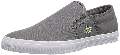 Lacoste Gazon Sport WD - Zapatillas de casa de Lona Hombre, Color Gris, Talla 40.5: Amazon.es: Zapatos y complementos