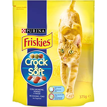 Friskies - Crock & Soft Pienso para Gatos con salmón, atún y ...
