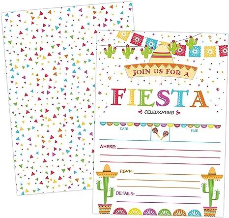 Amazon.com: Taco - Invitaciones de fiesta mexicana para ...