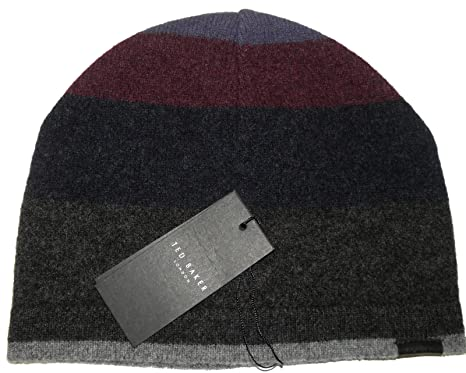 399716b0c8f0 Ted Baker Mens Enfelon Colour Grading Felted Wool Beanie Hat Grey One Size   Amazon.co.uk  Clothing
