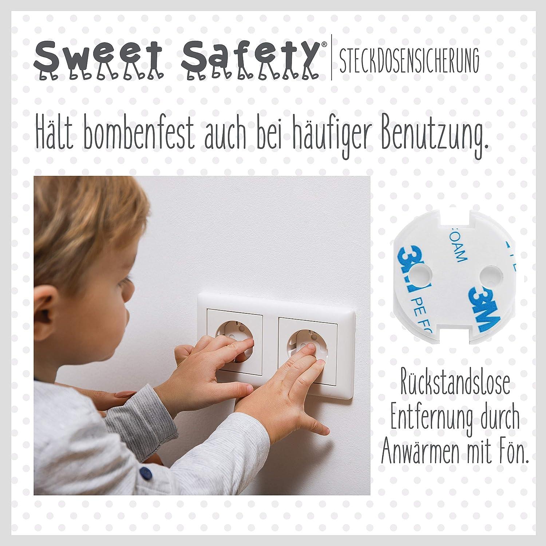 Steckdosenschutz Steckdosensicherung f/ür Baby und Kinder Sweet Safety/® Baby Steckdosen Kindersicherung Bombenfest T/ÜV Schadstoff gepr/üft 20 St/ück