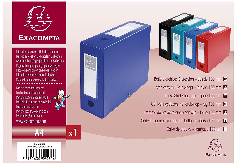 24x32 cm Blu Exacompta 59932E Scatole Archivio