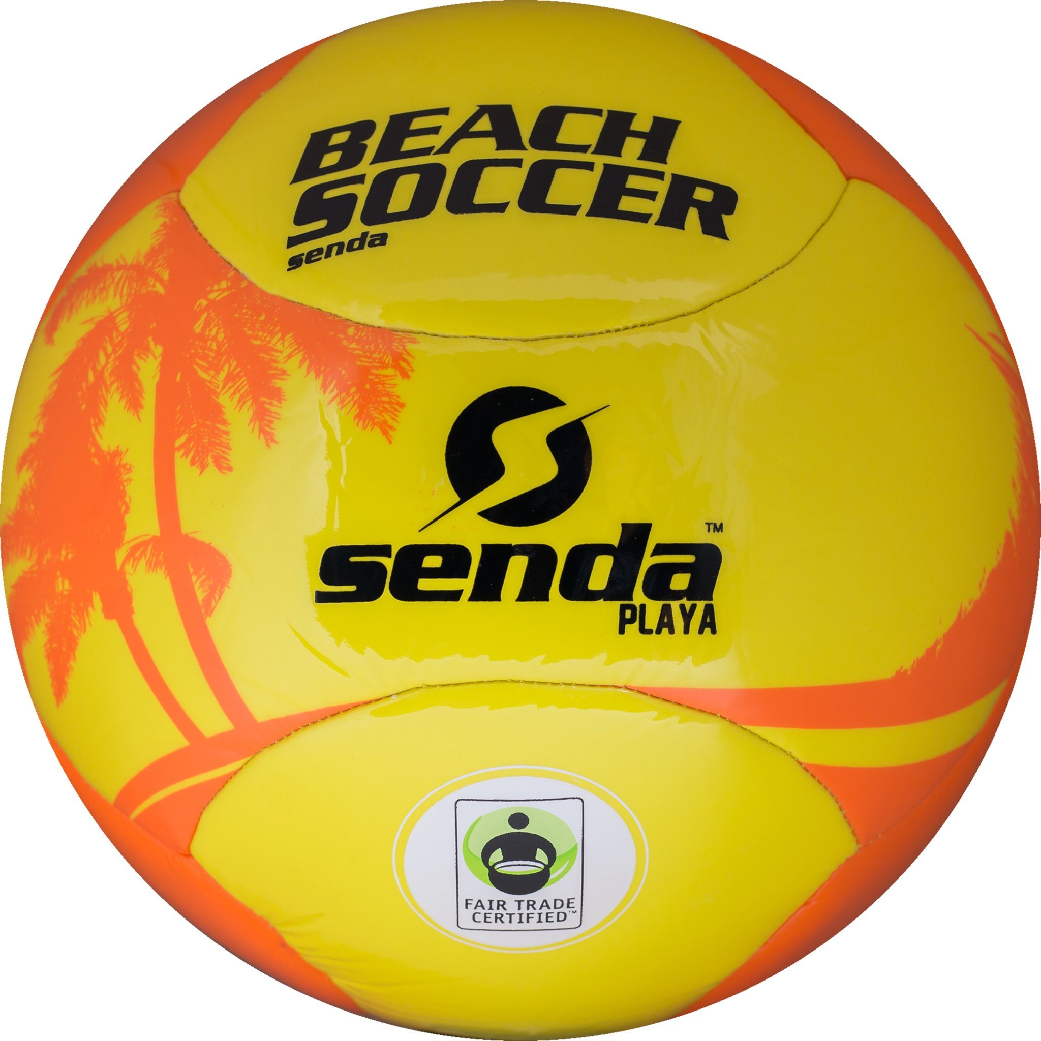 Senda Playa Beach Soccer Ball, Orange/Yellow, Size 4 (Ages 8-12)