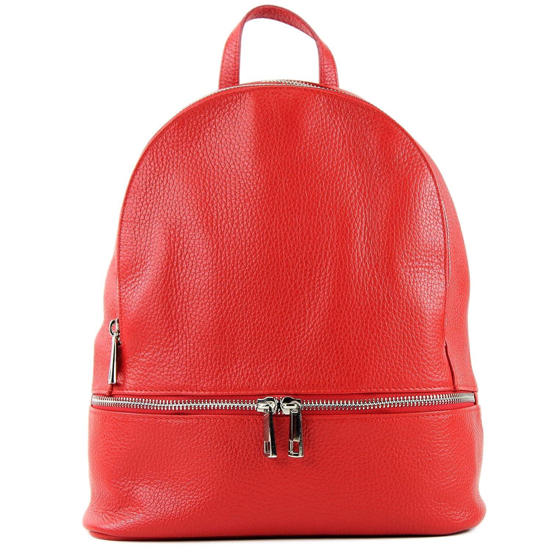 modamoda de – T137 – ital dam ryggsäck av läder T137läder-röd