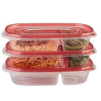 Amazon.com: Rubbermaid TakeAlongs Divided Rectangular Food Storage ...