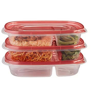 Amazoncom Rubbermaid TakeAlongs Divided Rectangular Food Storage