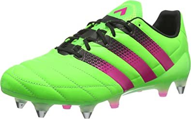 adidas Men's Ace 16.1 SG Leather Football Boots, Solar Green