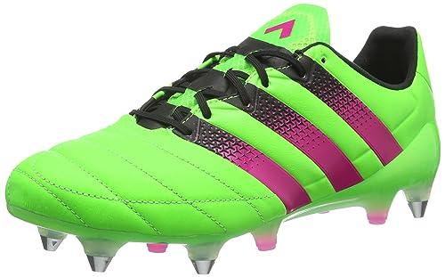 pretty nice 7489f f4054 Adidas Ace 16.1 SG Leather, Scarpe da Calcio Uomo, Verde (Solar Green