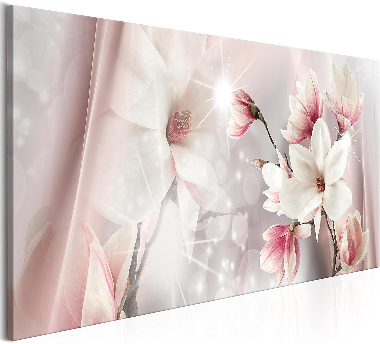 murando Cuadro en Lienzo Flores Magnolia 150x50 cm 1 Parte Impresión en Material Tejido no Tejido Impresión Artística Imagen Gráfica Decoracion de Pared Beige b-B-0270-b-a