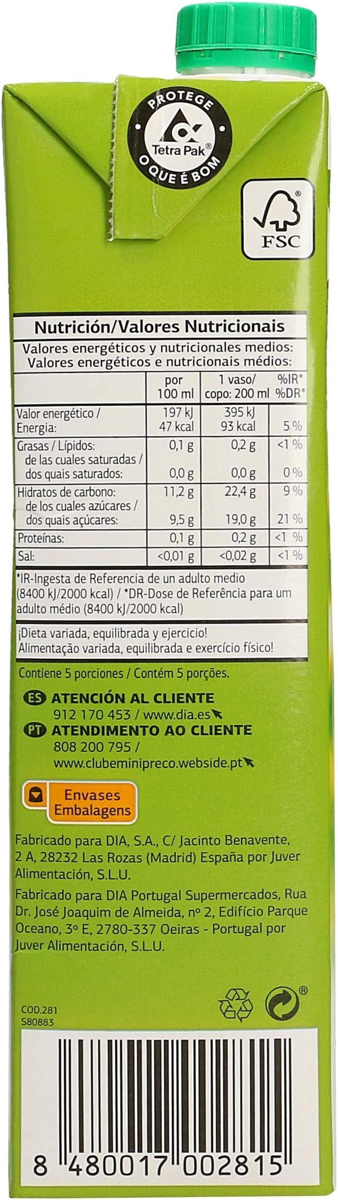 DIA zumo de manzana envase 1 lt: Amazon.es: Alimentación y ...