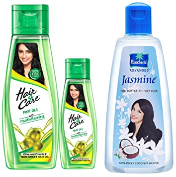 Buy Hair Care Fruit Oils Green 300ml With Free 100ml And Parachute Advansed Jasmine Coconut Hair Oil 500ml Online At Low Prices In India Amazon In