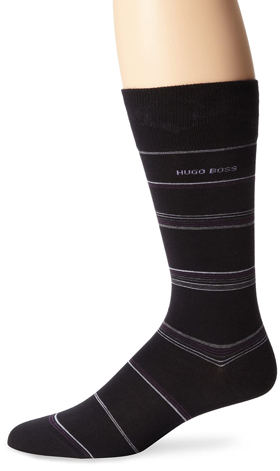 BOSS HUGO BOSS Mens Sock Black//Blue Stripe Sock Size:10-13//Shoe Size 6-12 50246352