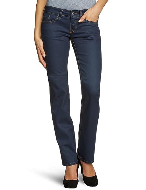 bc7baa100ce1 MUSTANG Jeans Damen Jeans Niedriger Bund, 3584-5168, Gr. 26 30, Blau ...