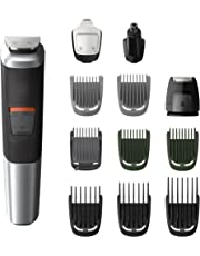 Philips MG5740/15 - Recortadora todo en uno 12 en 1, para barba, pequeños detalles, vello, nariz y orejas, cortapelos, depiladora corporal cara, cuerpo, cabeza