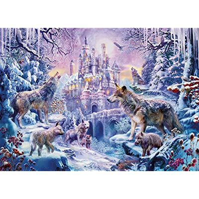 Gotry Puzzles 1000 Piece for Adults,Personalized Gift Paper Painting Jigsaw Puzzles Painting Scenery Boring Toy at Home (Wolf): Toys & Games