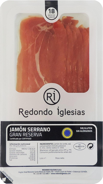 Jamón Serrano Gran Reserva loncheado / 18 meses curación / 15 ...
