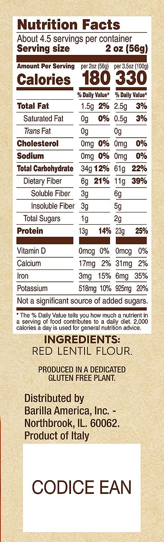 Barilla Penne Pasta Nutrition Label Ythoreccio