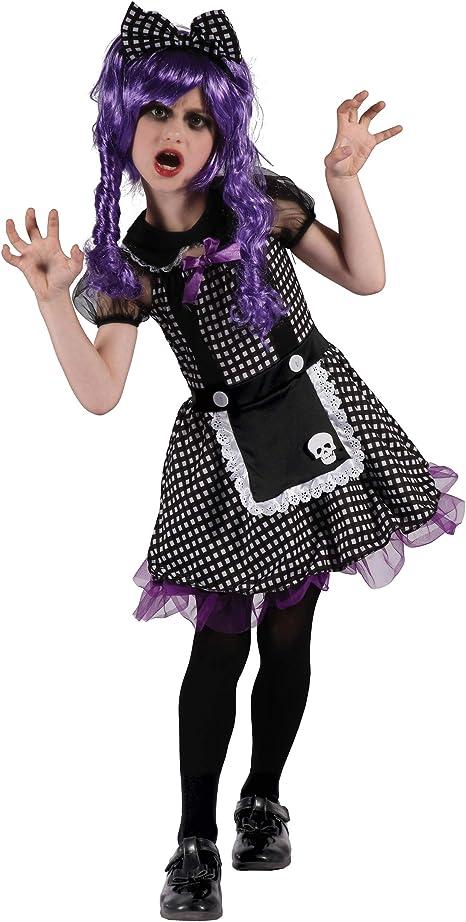 Generique - Disfraz de muñeca Gótica Niña L 10-12 años (130-140 cm ...