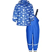 Playshoes Regen-Set Hai Allover impermeable para Niños
