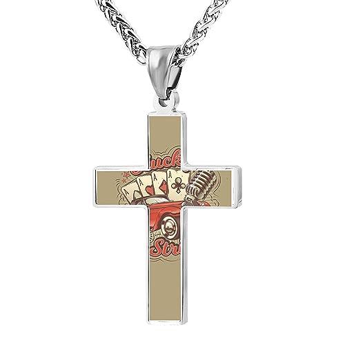 Amazon.com: Patriótico Cruz cuatro tarjetas de oración del ...