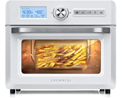 CROWNFUL 19 Quart Air Fryer, 10-in-1 Countertop Toaster Oven, 18L Convection Roaster with Rotisserie & Dehydrator, Original R